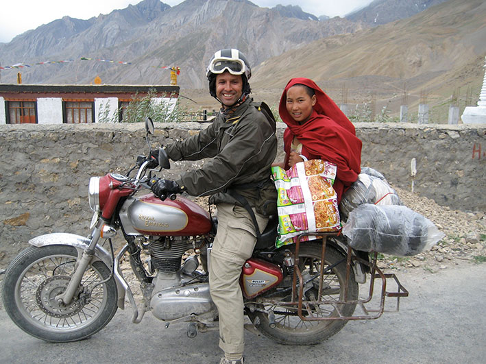La India en Royal Enfield