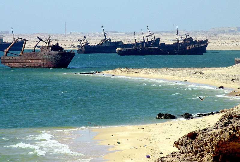 El mayor cementerio de barcos del mundo