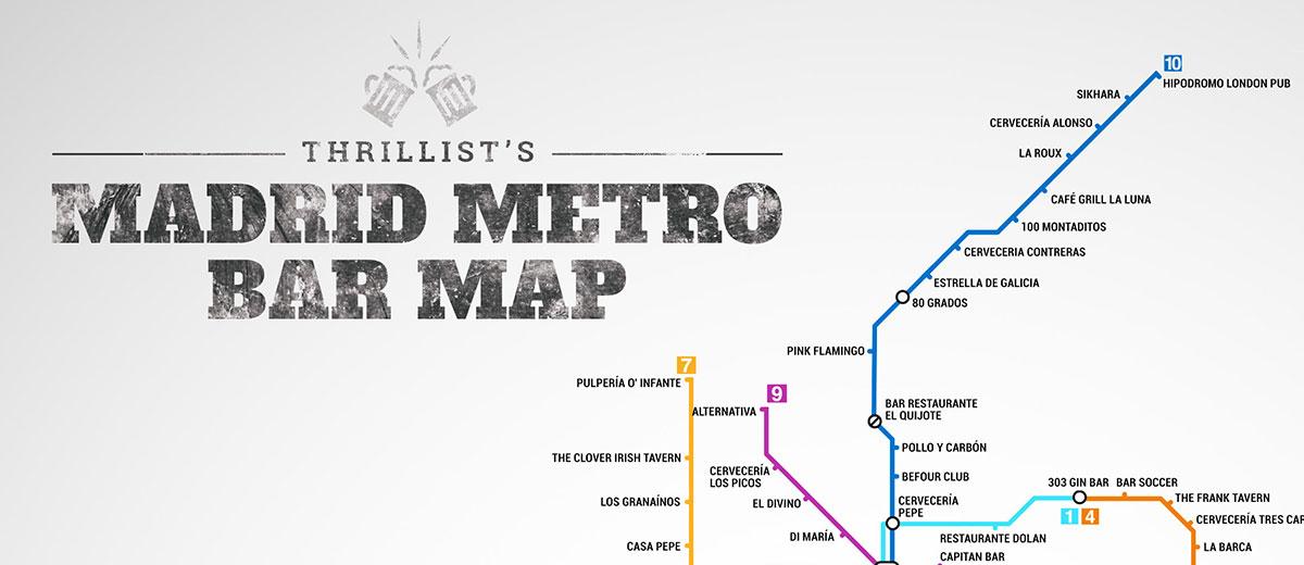 Plano de bares del Metro de Madrid