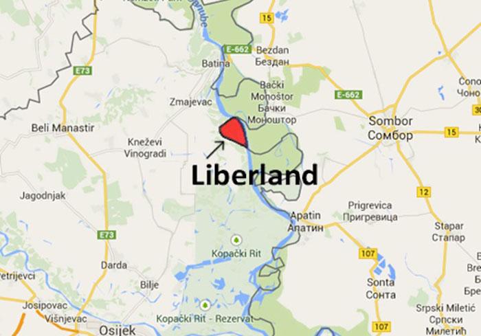 Situación de Liberland