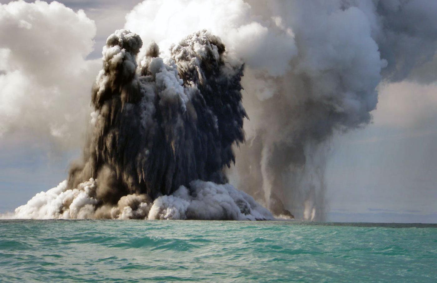 Ha nacido una nueva isla en Tonga
