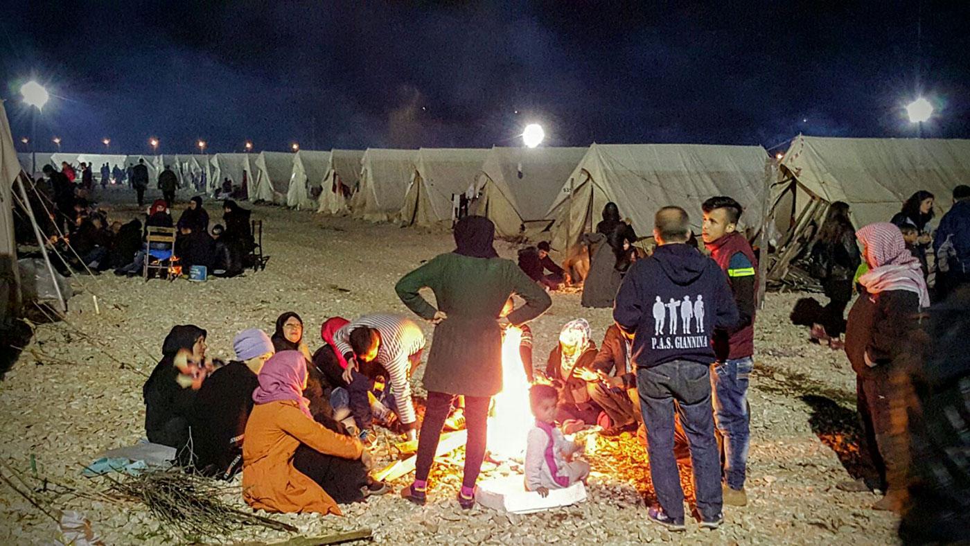 Segundo día con los refugiados sirios en Ioannina