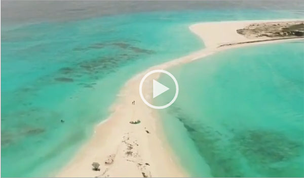 Los Roques a vista de dron