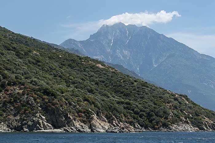 Costa de la península del Monte Athos