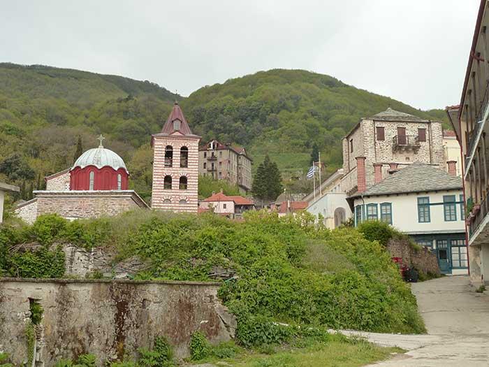 Karyes, capital administrativa del Monte Athos