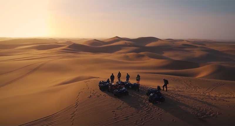 Explorar Namibia a vista de dron