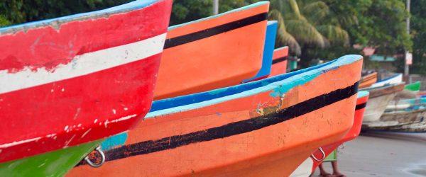 barcos de pescadores en Masachapa