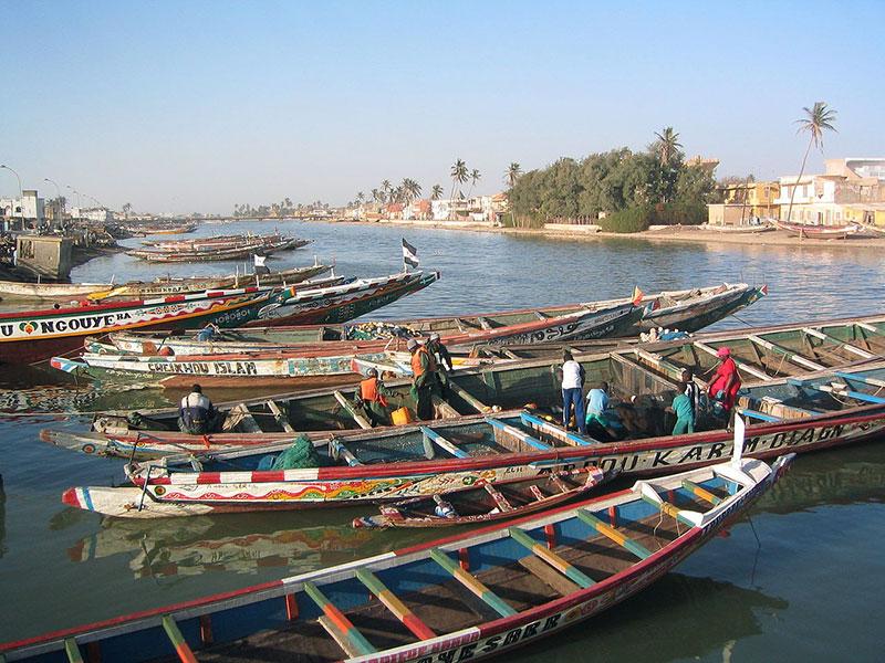 Piraguas en Saint Louis du Sénégal