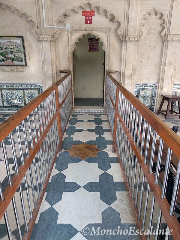 Acceso a las habitaciones en las que vivía la Princesa de Udaipur